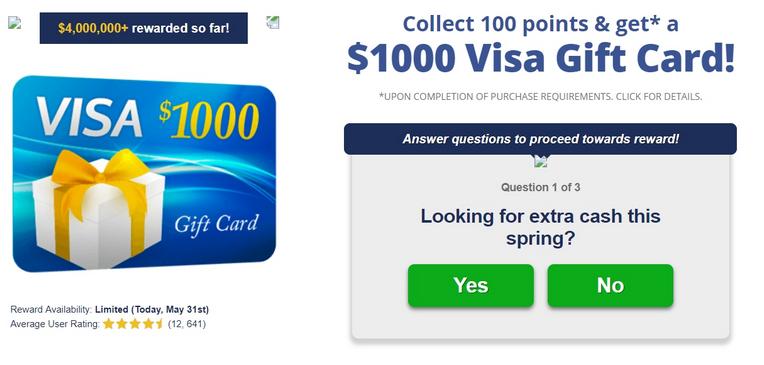 Win a Visa Gift Card - US