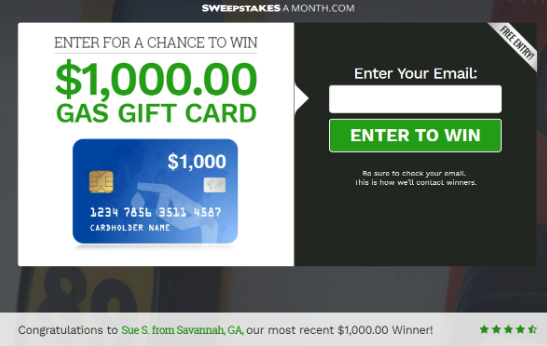 Win $1000 Gas Gift Card V2 - US - 2