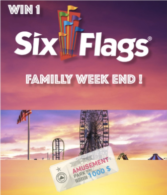 Win Six Flags Family weekend